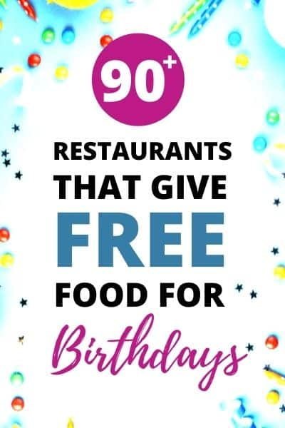 Free Food For Your Birthday