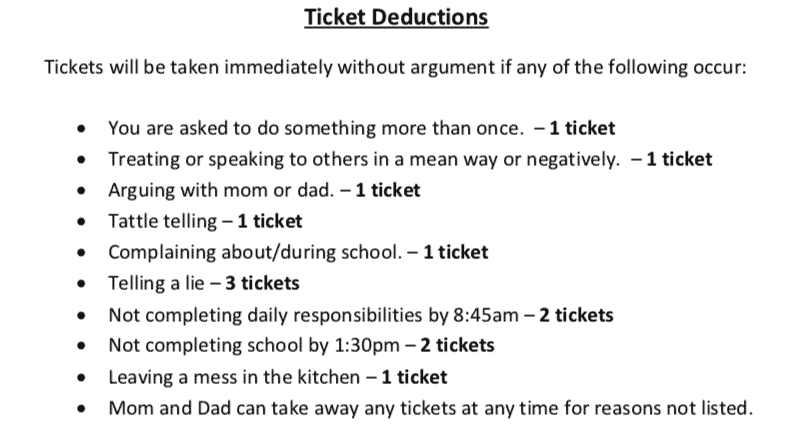 Ticket Deductions