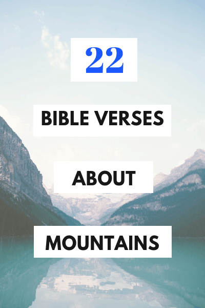 Bible Verse Mountains