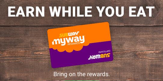 Subway's Rewards Card