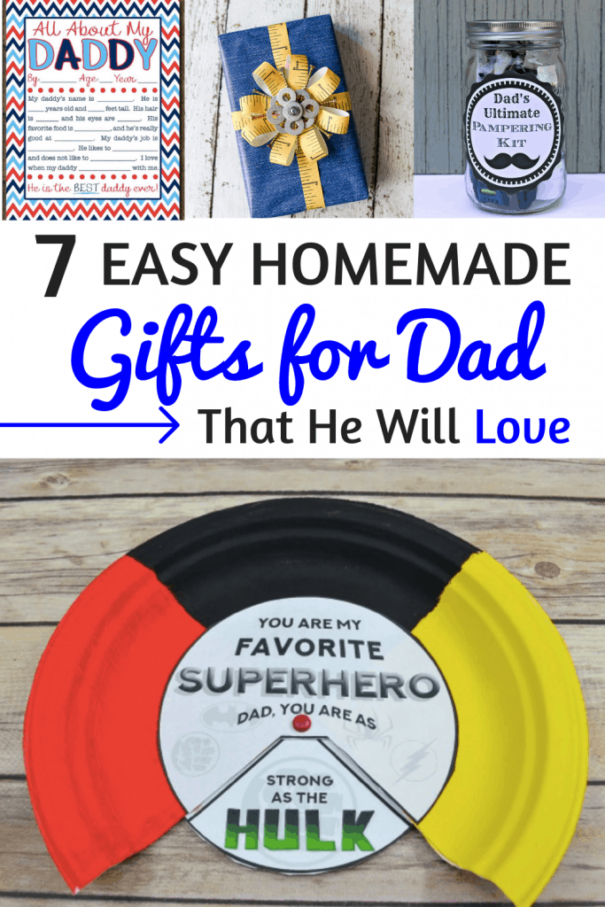 Homemade Gifts for Dad