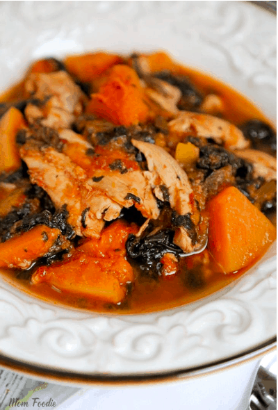 Slow Cooker Chicken Thighs with Butternut Squash