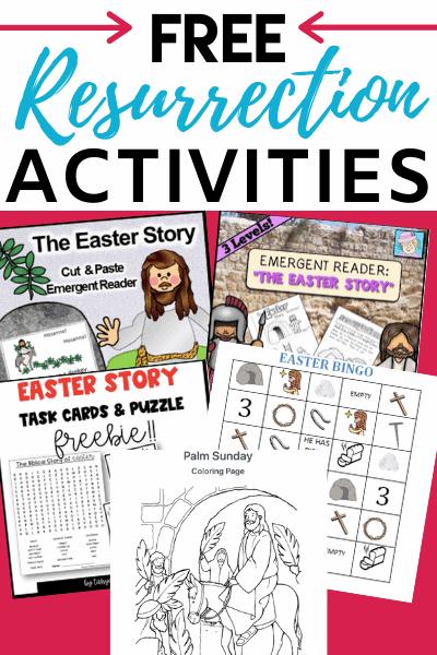 Resurrection of Jesus: Free Easter Activities for Kids