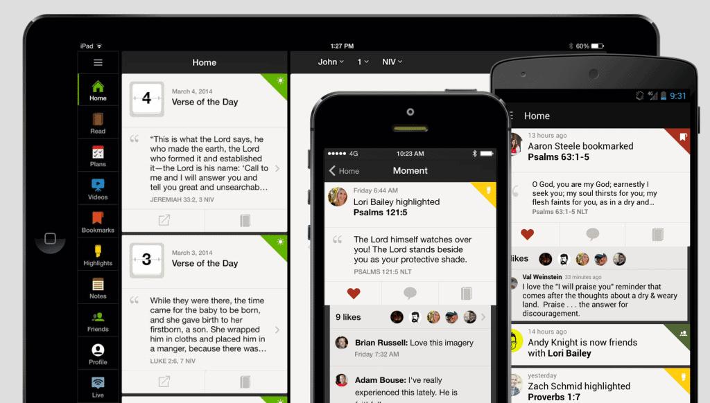 YouVersion free Bible study app