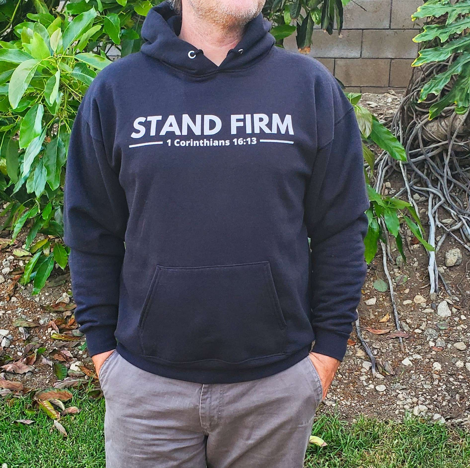 Stand Firm Christian hoodie for men
