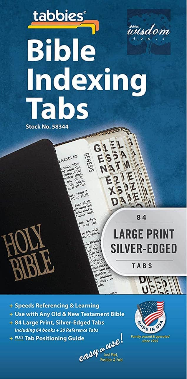 Tabs for Bible