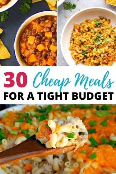 Dirt cheap meals
