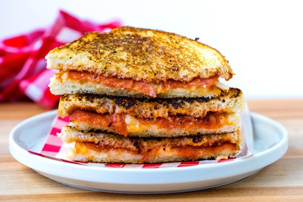 Easy Pizza Grilled Cheese Meal Idea