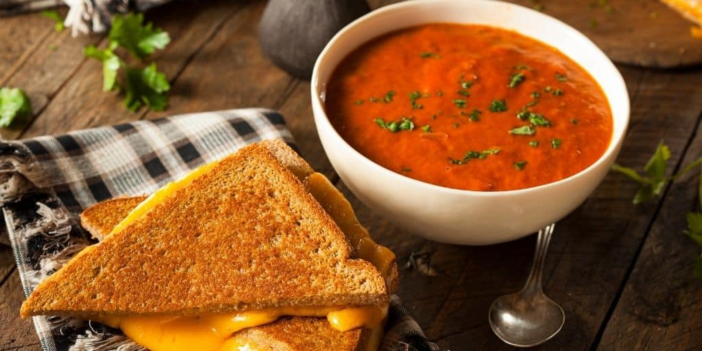 Tomato Soup and Grilled Cheese Cheap Meal