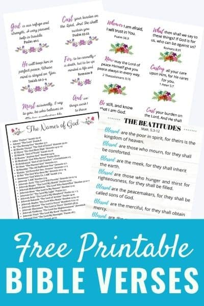 10 Free Printable Bible Verses That Will Bless You