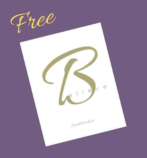 Believe Free Bible Study Printable
