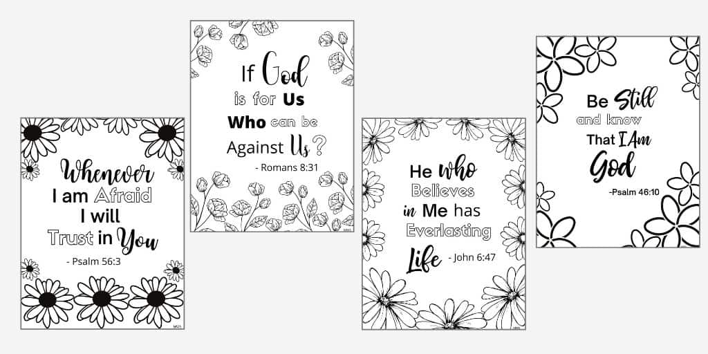 Completely Free Printable Bible Verse Coloring Pages