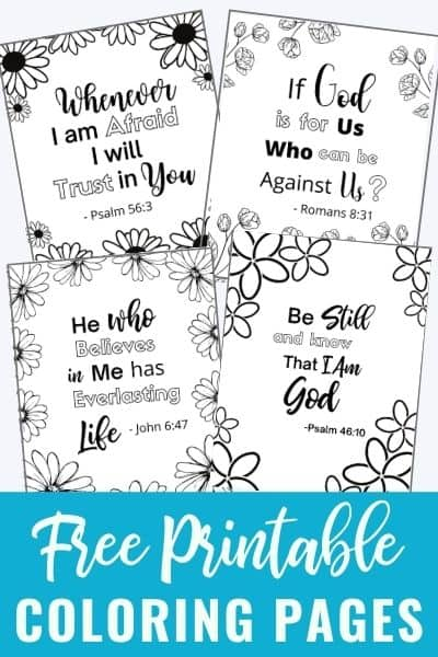Bible Verse Coloring Pages That Are Free