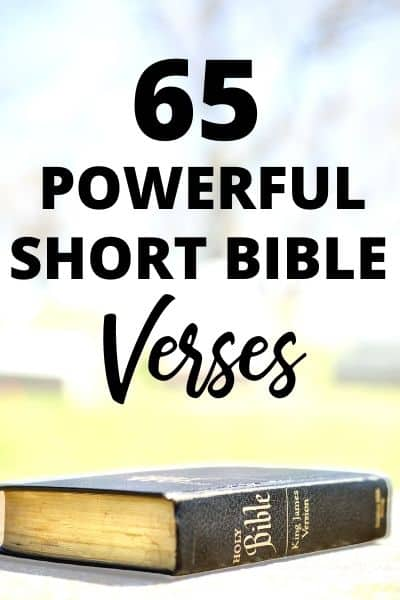65 Short Bible Verses That Will Inspire and Equip You